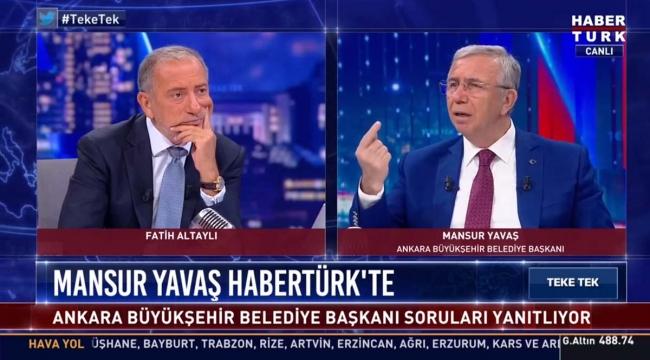 Mansur Yavaş Fatih Altaylı'nın programında Cumhurbaşkanlığına adaylık sinyali verdi