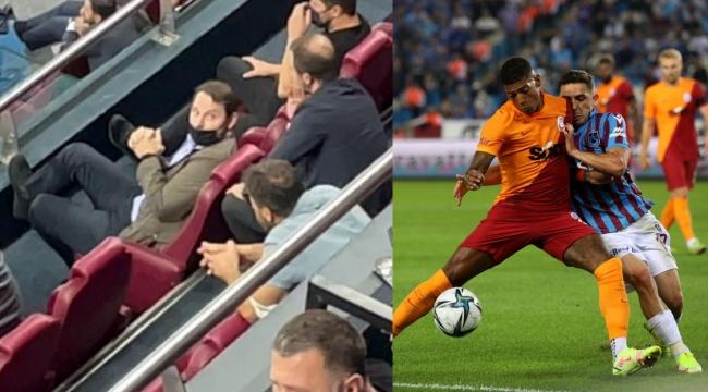 Berat Albayrak Trabzonspor Galatasaray derbisini locadan izledi