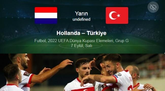 Türkiye Hollanda maçı saat kaçta hangi kanalda?
