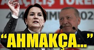 Meral Akşener Erdoğan'a açtı ağzını yumdu gözünü